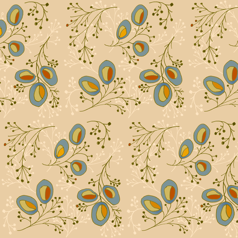 first branches ~ revision fabric by lisaekström on Spoonflower - custom fabric