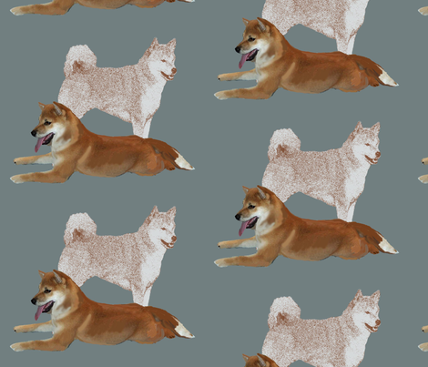 Shiba Inu fabric fabric by dogdaze_ on Spoonflower - custom fabric
