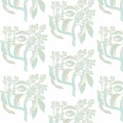Botanical study-mossy blue