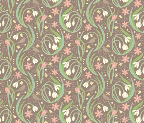 Signs of Spring fabric by jennartdesigns on Spoonflower - custom fabric