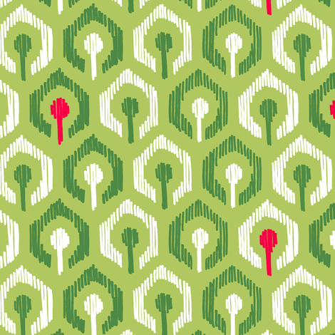 Holiday Honeycomb Ikat fabric by pattysloniger on Spoonflower - custom fabric