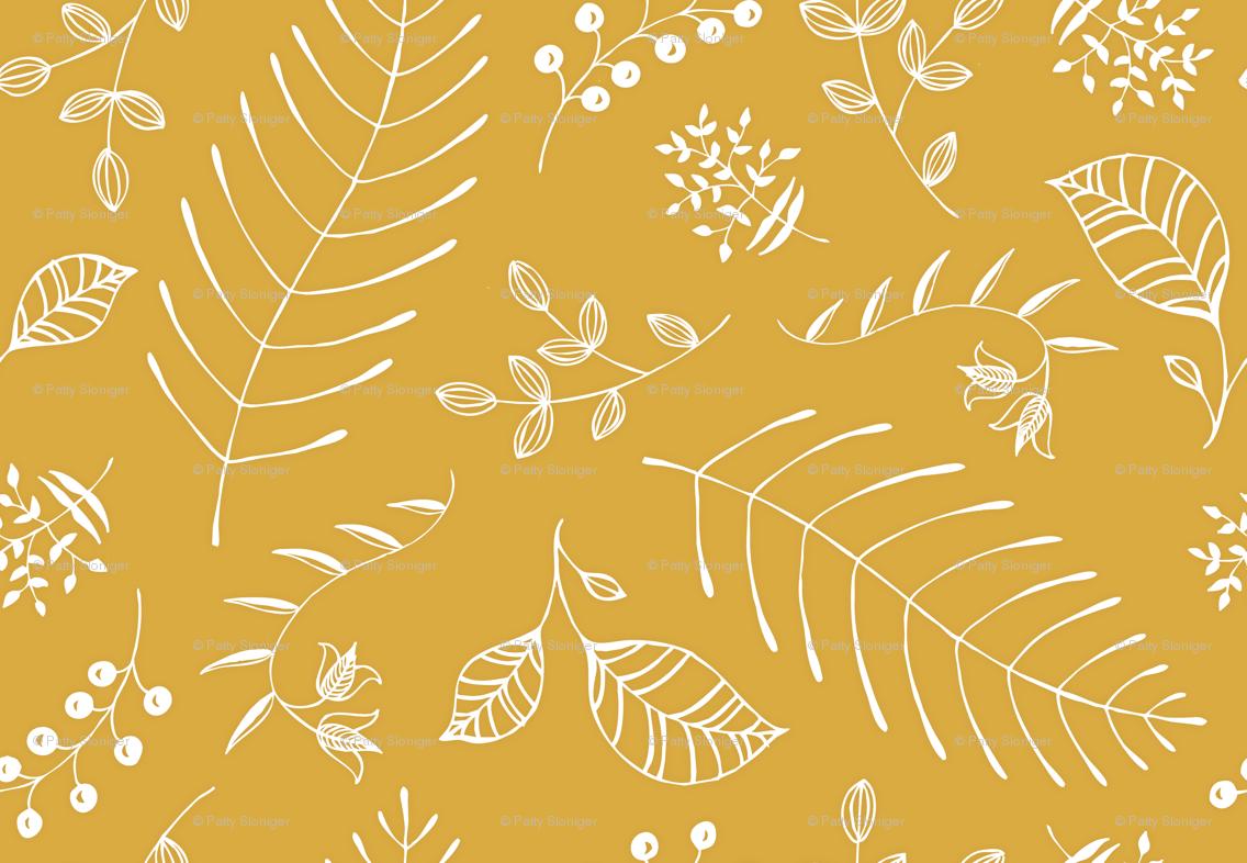mustard yellow chevron background 2