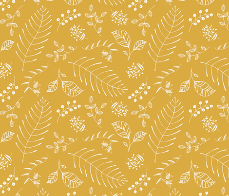 Botanika - custom color Mustard fabric by pattysloniger on Spoonflower - custom fabric