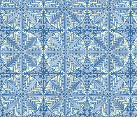 © Circle of Water fabric by glimmericks on Spoonflower - custom fabric