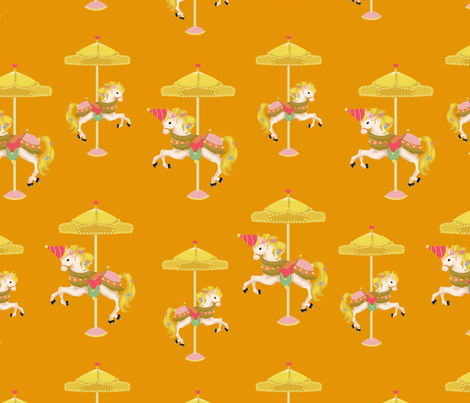 Carousels-small ver. fabric by jshin on Spoonflower - custom fabric