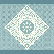 Rrpeacock_feather_butterfly_hawaiian_quilt3_marine-blue_aqua-revise-cream_shop_thumb
