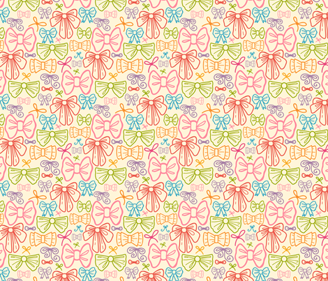 Colorful Bows fabric by oksancia on Spoonflower - custom fabric