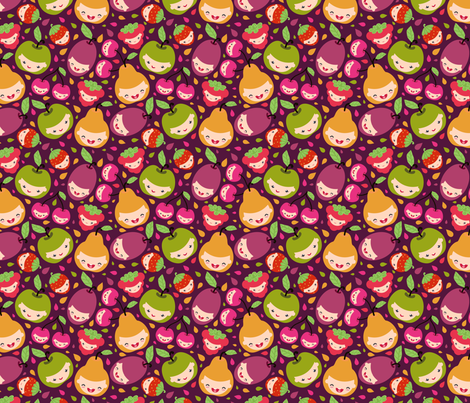 Happy Fruit Children fabric by oksancia on Spoonflower - custom fabric