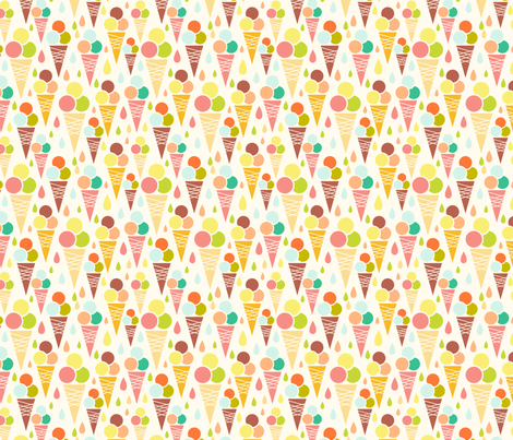 Ice Cream Cones fabric by oksancia on Spoonflower - custom fabric