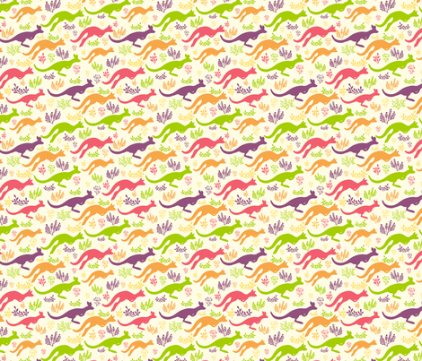 Jumping Kangaroos fabric by oksancia on Spoonflower - custom fabric