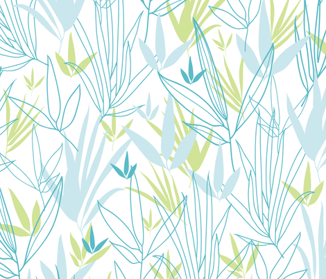 Line Art Bamboo fabric by oksancia on Spoonflower - custom fabric