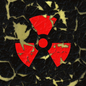 Worn Radiation Sign L