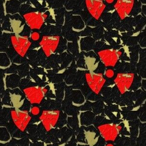 Worn Radiation Sign S