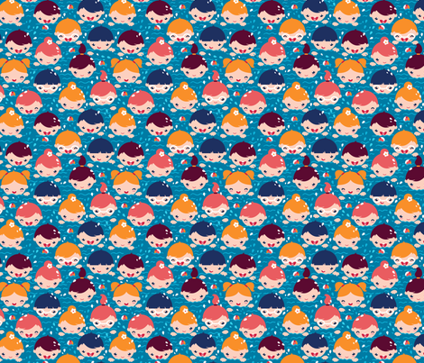 Swimming Children fabric by oksancia on Spoonflower - custom fabric