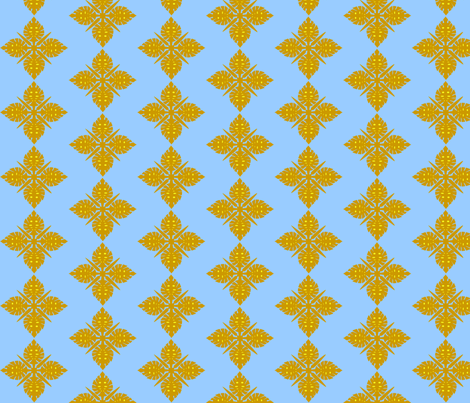 Blue Hawai fabric by rosapomposa on Spoonflower - custom fabric