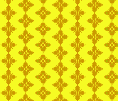 Yellow Hawai fabric by rosapomposa on Spoonflower - custom fabric