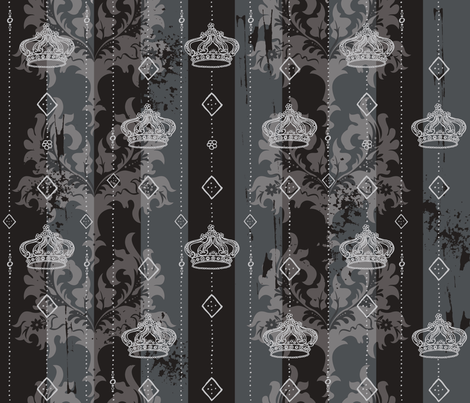 Powder Room Royale a la Goth fabric by cynthiafrenette on Spoonflower - custom fabric