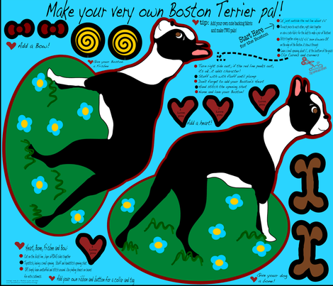 Boston Terrier Pal fabric by missyq on Spoonflower - custom fabric