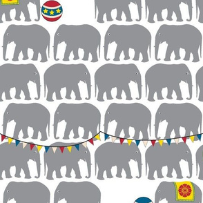 Circus Elephants - Gray