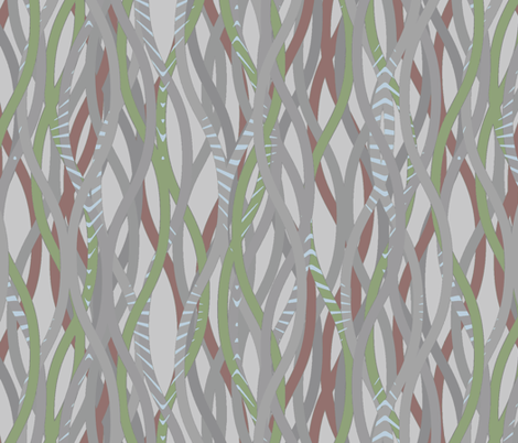 Lianas - dusk fabric by ormolu on Spoonflower - custom fabric