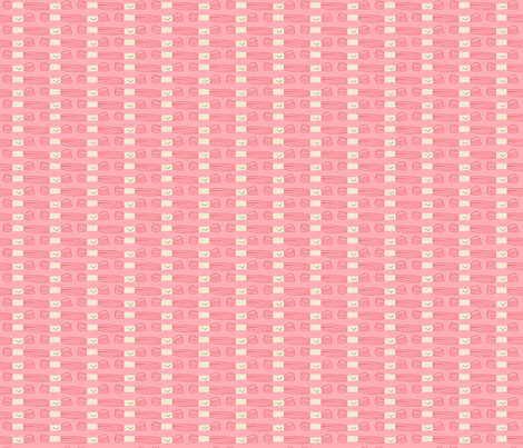 Craftiness! Pink Embroidery Floss fabric by wildolive on Spoonflower - custom fabric