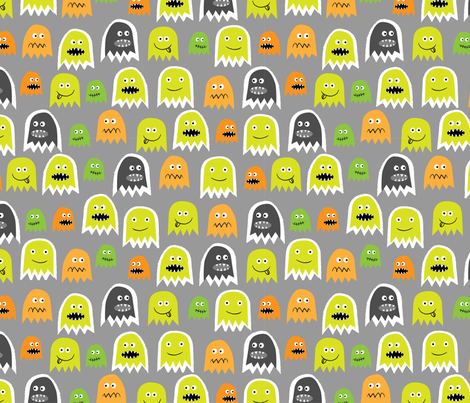Boo! fabric by mondaland on Spoonflower - custom fabric