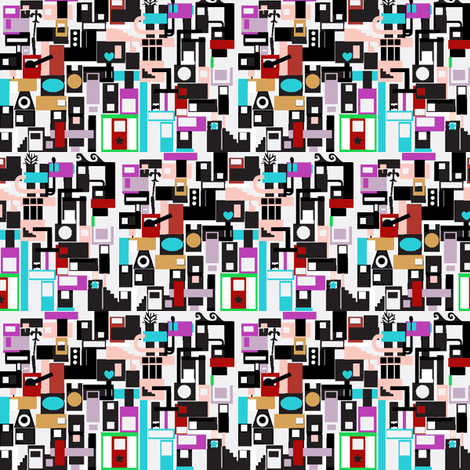 Tiny City fabric by boris_thumbkin on Spoonflower - custom fabric