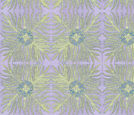 Lavender Seaweed fabric by jellybeanquilter on Spoonflower - custom fabric