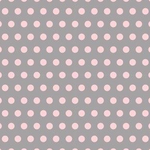 Pink on Grey Polka Dots