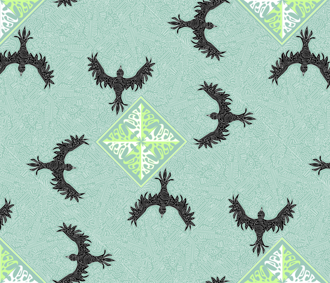 ©2011 As the Crow flies fabric by glimmericks on Spoonflower - custom fabric