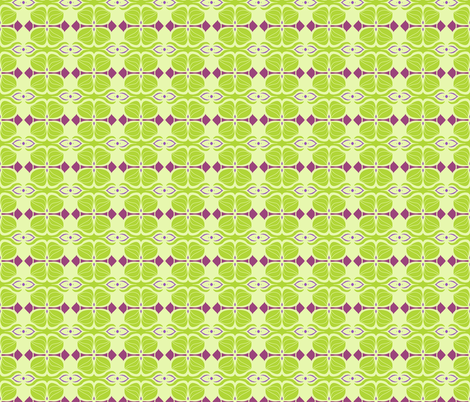 Springtime Deco fabric by paula_ogier_artworks on Spoonflower - custom fabric