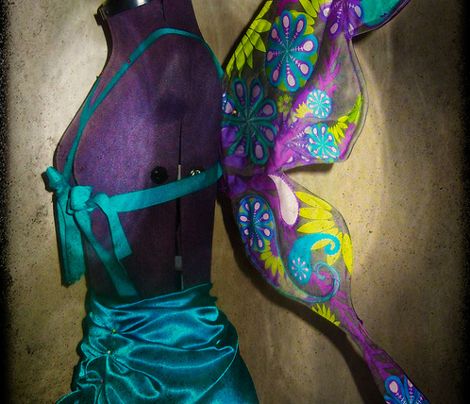 BUTTERFLY COSTUME PEACOCK COLORS