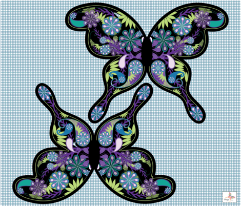 BUTTERFLY COSTUME PEACOCK COLORS fabric by wendyg on Spoonflower - custom fabric