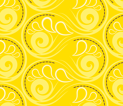 Seashell swirls fabric by borianakostova on Spoonflower - custom fabric