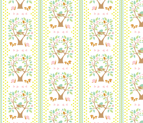 Baby Woods_Nests fabric by dzynchik on Spoonflower - custom fabric