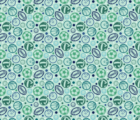 Sport Balls fabric by oksancia on Spoonflower - custom fabric