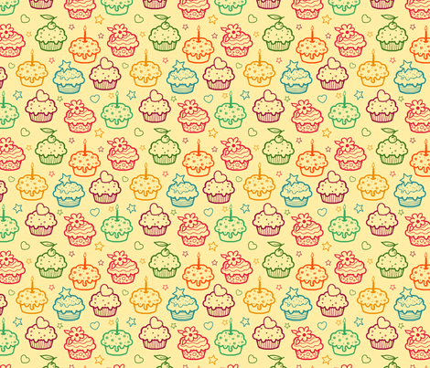 Cupcakes fabric by oksancia on Spoonflower - custom fabric