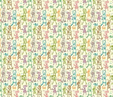 People On The Street fabric by oksancia on Spoonflower - custom fabric