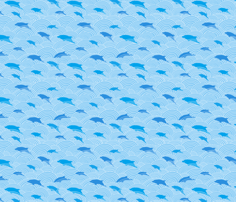 Swimming Dolphins fabric by oksancia on Spoonflower - custom fabric