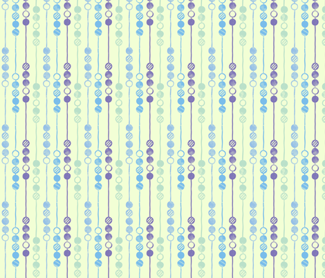 Painted Beads (Cool) fabric by leighr on Spoonflower - custom fabric