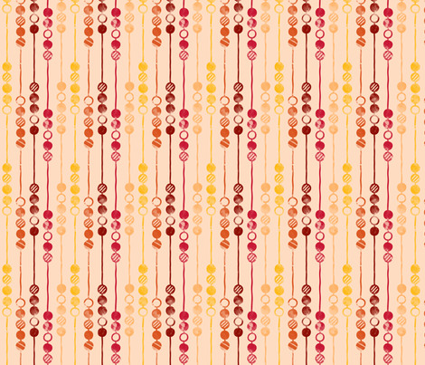 Painted Beads (Retro) fabric by leighr on Spoonflower - custom fabric