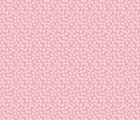 Pink Sakura Flowers fabric by oksancia on Spoonflower - custom fabric