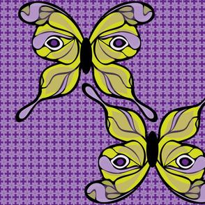 Butterfly Wings Lunar Moth Style