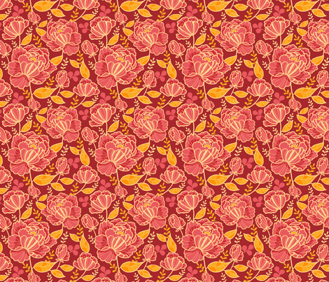 Beautiful Garden fabric by oksancia on Spoonflower - custom fabric