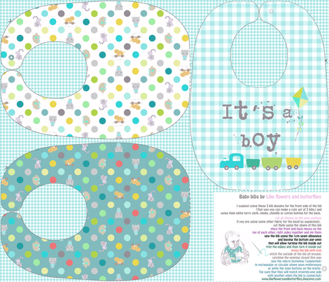 bibs playground baby boy fabric by katarina on Spoonflower - custom fabric
