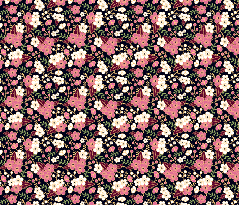 Night Garden fabric by oksancia on Spoonflower - custom fabric
