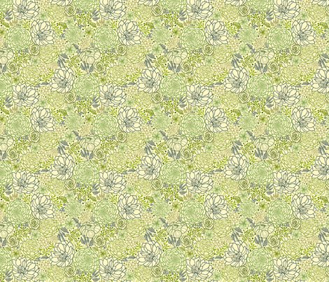 Succulents fabric by oksancia on Spoonflower - custom fabric