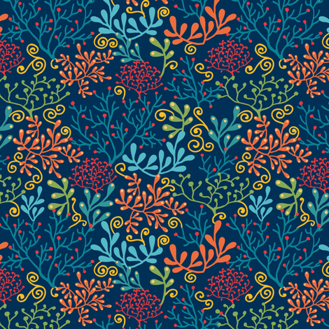 Underwater Garden fabric by oksancia on Spoonflower - custom fabric