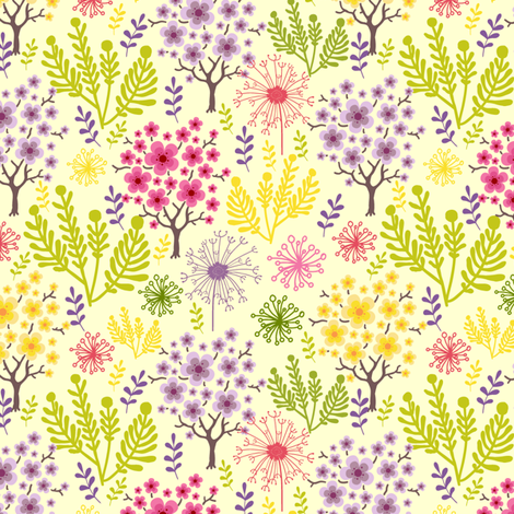 Spring  Forest fabric by oksancia on Spoonflower - custom fabric