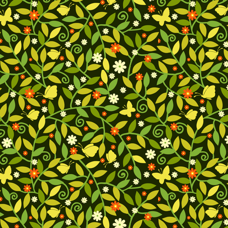 Spring Garden fabric by oksancia on Spoonflower - custom fabric